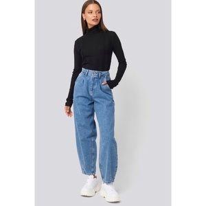 Zara Darted Balloon Jeans 4 Light Blue